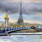 Paris Pont Alexandre III by Yuriy Shevchuk