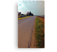 Country road, cloudy sky, fresh colors | landscape photography Canvas Print