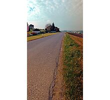 Country road, cloudy sky, fresh colors   landscape photography Photographic Print