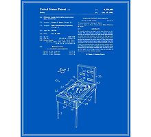 Pinball Machine Patent - Blueprint Photographic Print