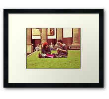 Knitted Smile Framed Print