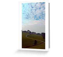 Scenery with clouds, a hill and nothing particular | landscape photography Greeting Card
