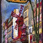 Paris Mulen Rouge by Yuriy Shevchuk