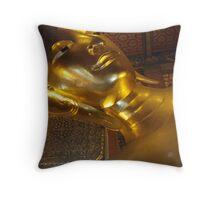 reclining buddah Throw Pillow