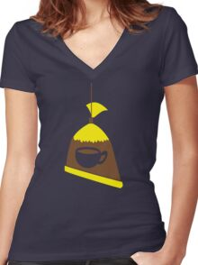 Singapore Malaysia cool coffee iced tea in a bag Women's Fitted V-Neck T-Shirt
