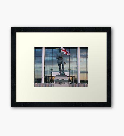 bobby moore statue taken at wembley Framed Print