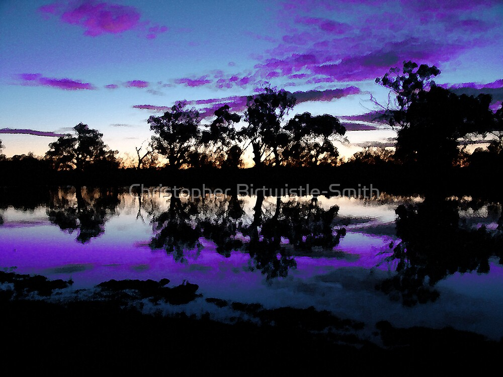 river murray at dusk, wentworth Australia by Christopher Birtwistle-Smith