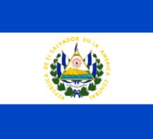 flag of el salvador Sticker