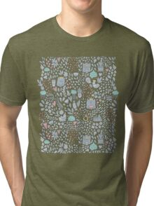 Doodle cats and flowers Tri-blend T-Shirt