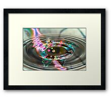 Money By Distortion  Framed Print