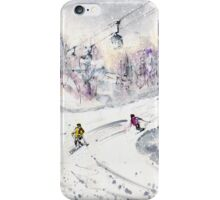 Skiing In The Dolomites In Italy 01 iPhone Case/Skin