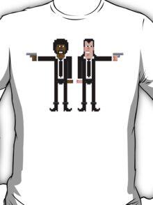 Pixel Vincent and Jules. Pulp Fiction. T-Shirt