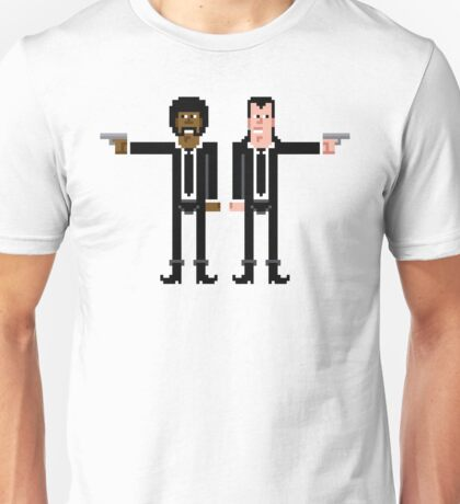 Pixel Vincent and Jules. Pulp Fiction. Unisex T-Shirt