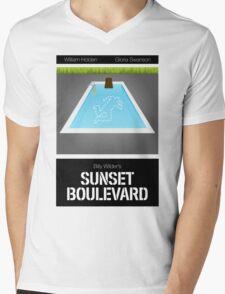 Sunset Boulevard Mens V-Neck T-Shirt