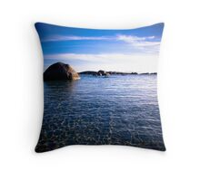 Humpback rock of Green Pool Throw Pillow
