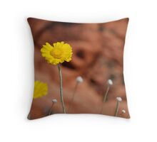 Desert Sunflower No. 2 Throw Pillow