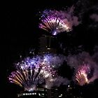 Eureka tower new years fireworks 2015 by collpics