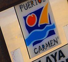 Puerto Del Carmen Sign - Lanzarote by Paul Morris