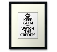keep calm marvel Framed Print