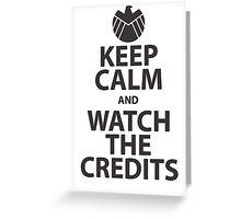 keep calm marvel Greeting Card