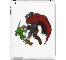 Link Vs Ganandorf Ocarina of Time colored iPad Case/Skin