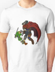 Link Vs Ganandorf Ocarina of Time colored T-Shirt