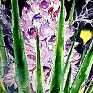 yucca flower watercolor painting art print by derekmccrea