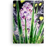 yucca flower watercolor painting art print Metal Print