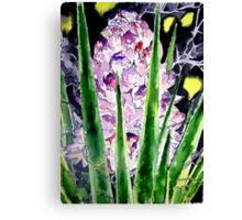 yucca flower watercolor painting art print Canvas Print