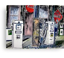 route 66 gas station Canvas Print