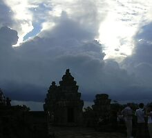 Rising Clouds above Ankor Wat by sg325is