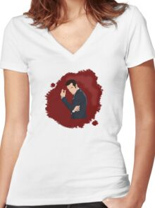 Consulting Criminal Women's Fitted V-Neck T-Shirt
