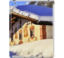 House in Alps under a snowy roof iPad Case/Skin