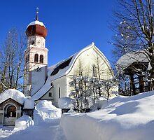 Church in Austrian Tyrol by Elzbieta Fazel