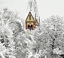 Church in Snow by Elzbieta Fazel