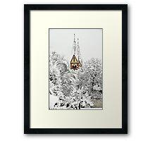 Church in Snow Framed Print