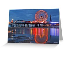 Blackpool Central Pier  Greeting Card