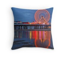 Blackpool Central Pier  Throw Pillow