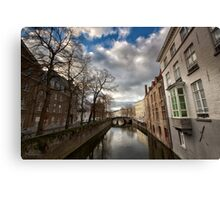 Bruges and 'the little green window' Canvas Print