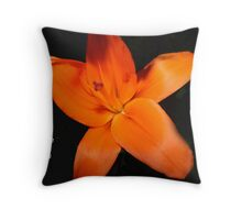 Orange Lilly - A Note For You Throw Pillow