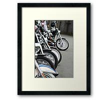 Bikes in Waiting Framed Print