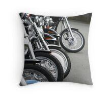 Bikes in Waiting Throw Pillow