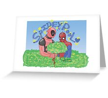 Spideypool Greeting Card