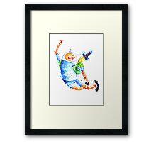 Finn highfive Framed Print