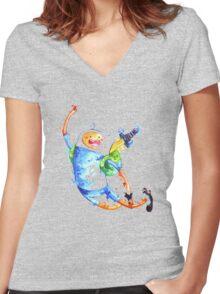 Finn highfive Women's Fitted V-Neck T-Shirt
