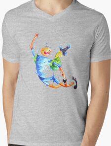 Finn highfive Mens V-Neck T-Shirt