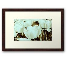 Fish And Tulips Framed Print
