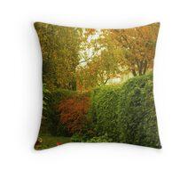 Garden Corner Throw Pillow