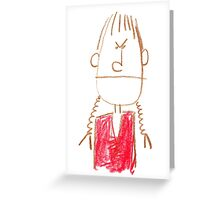 Over-tight pigtail day! Greeting Card