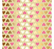 Faux Gold & Pink Hearts  Photographic Print